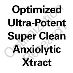 SCAX-OX: Super Clean Anxiolytic Optimized Xtract